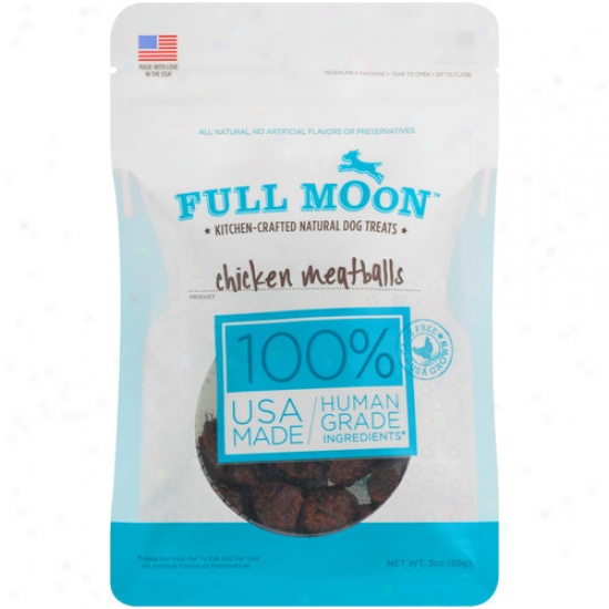 Full Moon Chicken Meatballs Dog Treats, 3 Oz