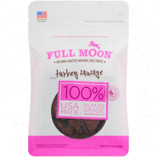 Full Moon Turkey Sausage Dog Treats, 3 Oz