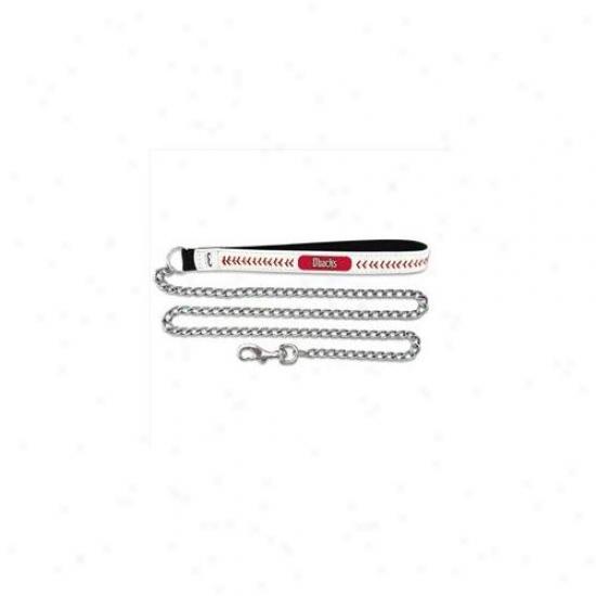 Gameweae Cll-mlb-ard-m Arizona Diamondbacks Medium Baseball Leather With 2. 5mm Chain Leash