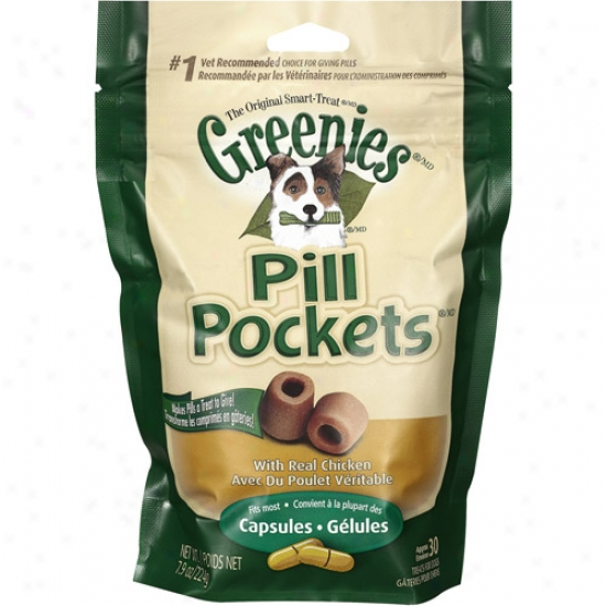 Greenies 642863045417 Pill Pockets Dog Chicken Large 7. 9oz 30pk