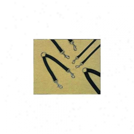 Hamilton Pe Company - Nyln Dble Coupler Wlkng 2 Dogs- Black . 63 X 12 - Of 12bk