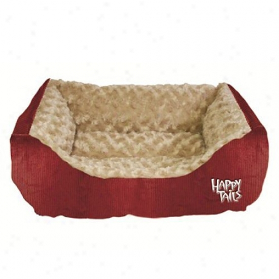 Happy Tails Corduroy Cuddler Dog Bed - 17l X 20w In.