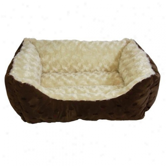 Happt Tails Polka Dot CuddlerW ith Swirl Dog Bed - 17l X 20w In.