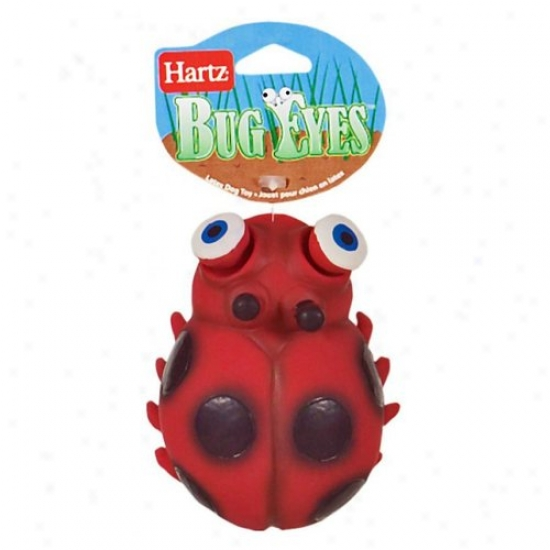 Hartz 10993 Bug Eyes Ladybug Dog Toy