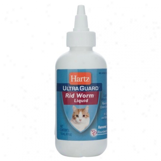 Hartz 14108 4 Oz Ulltra Guard?? Rid Worm Liquid