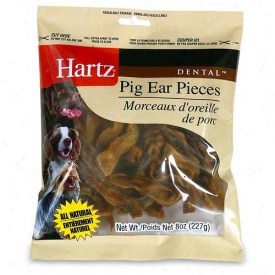 Hartz 98413 8 Oz Dental Pig Ear Pieces