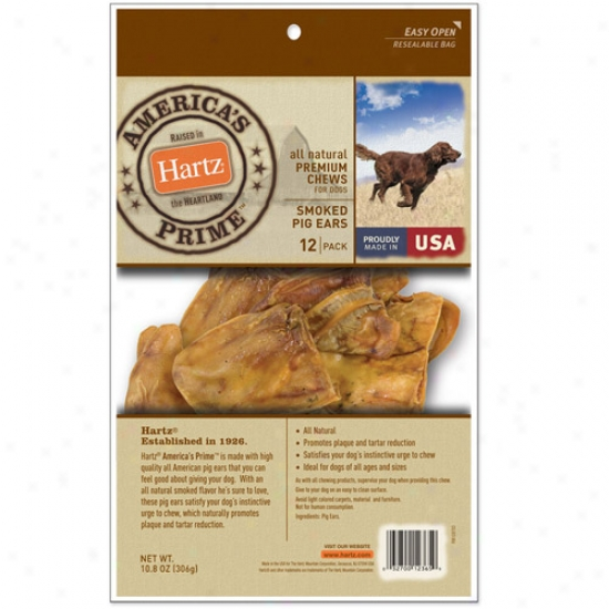 Hartz All Natural Premium Chews Smoked Pig Ear For Dog