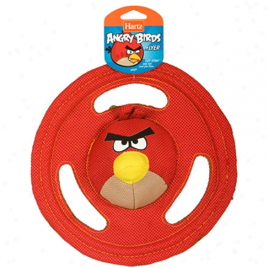 Hartz Angry Birds Tuff Stuff Flyer Squeaker Dog Toy, Color May Vary