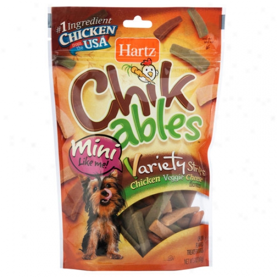 Hartz Chickables Strips For Tiny Dogs, 5.7 Oz