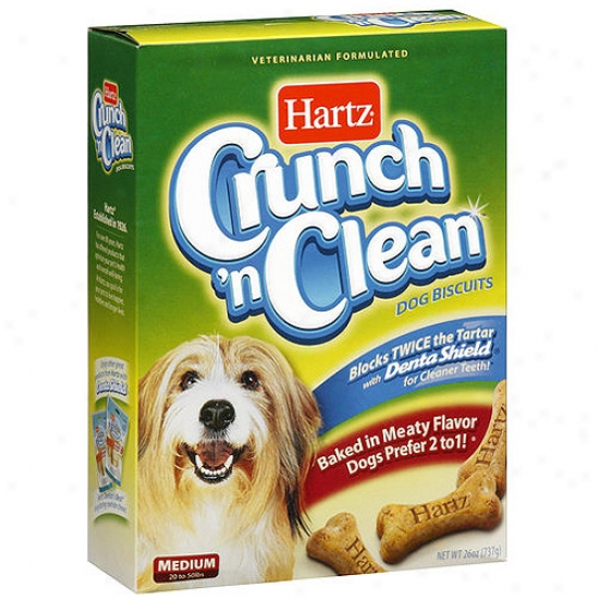 Hartz Crunch 9n Clean Dog Biscuits, 26 Oz