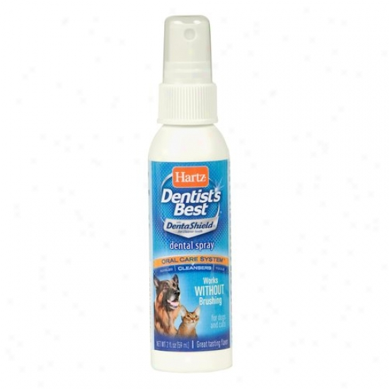 Hartz Dentist's Best Oral Care System Dental Spray For Dogs & Cats, 2 Oz