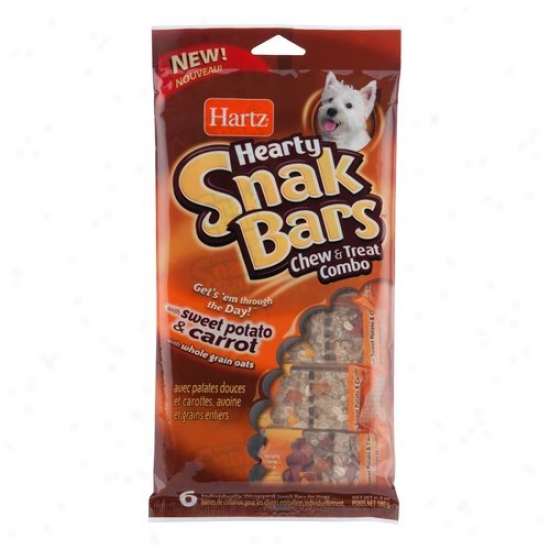 Hartz Sweet Potato And Carrot Hearty Snack Bars Dog Champ And Treat Combo, 6-count, 6.3 Oz