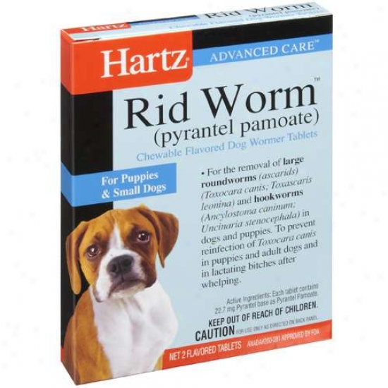 Hartz Ultraguard Plus Rid Worm Tablets For Small Dogs