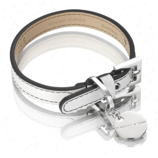Hennessy & Sons Polo Handmade Perforated Leather Dog Collar