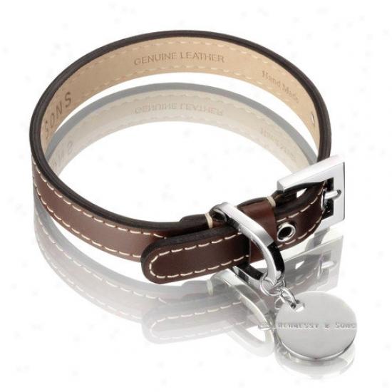Hennessy & Sons Royal HandmadeB ritish Saddle Leather Dog Leash