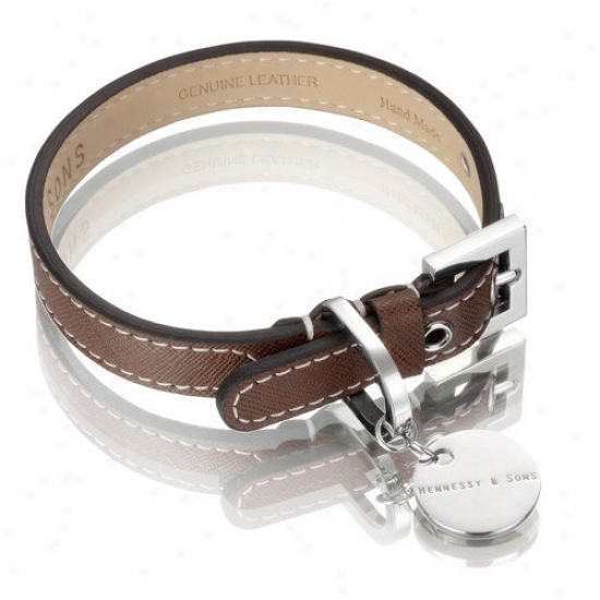 Hennessy & Sons Saffiano / Hand Maxe Leatuer Dog Collar