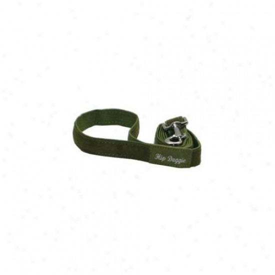 Hip Doggie Hd-6ofsh-leash Olive Fur Matching Leqsh