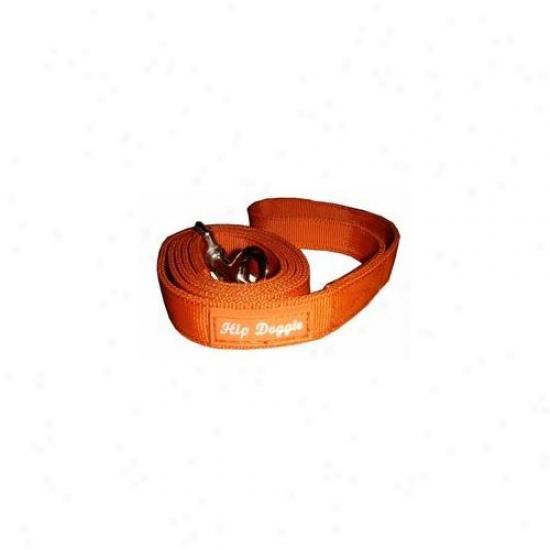 Hip Doggie Hd-6pmhor-leash Orange Mesh Matching Leash