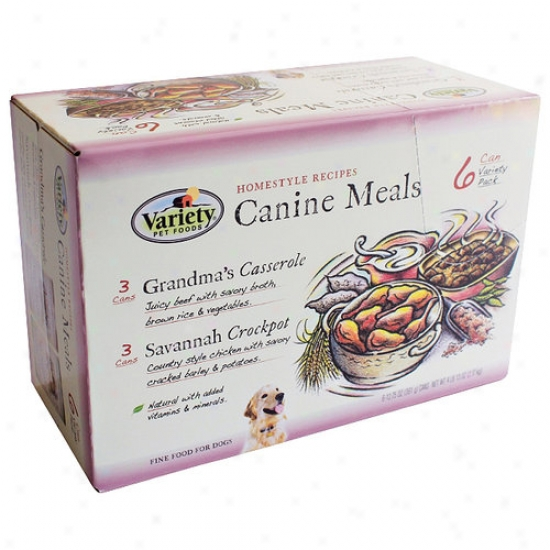 Homestyle Recipes Canine Meals Canned Dog Food, Grandma���s Casserole And Savannah Crockpot, 6 Count, 77 Oz
