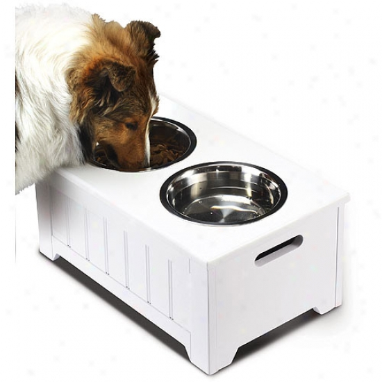 Homezone Small Pet Bowl Swrver, White