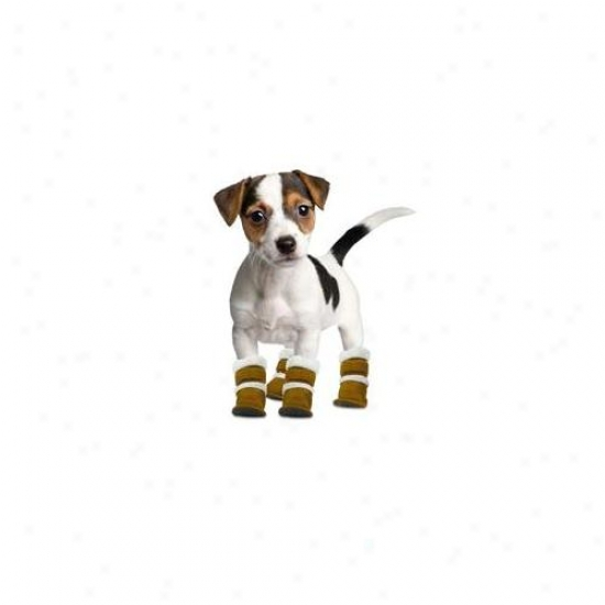 Hugs Pet Products Hug-11000 Pugz Shoes For Dogs Extra Small Brown 1. 25 Inch X 2 Inch X 2. 5 Inch