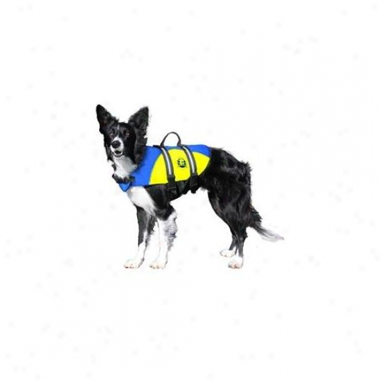 Hunter K9 Designs By130O Small Neoprene Doggy Life Jacket - Blue And Yellow