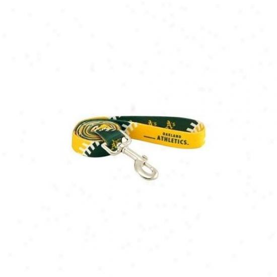HunteeM fg Dn-311551 Oakland Athletics Dog Leash