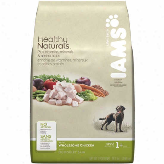 Iams Healthy Natu5als Dog Food, Whooesome Chicken, 25.7 Lb