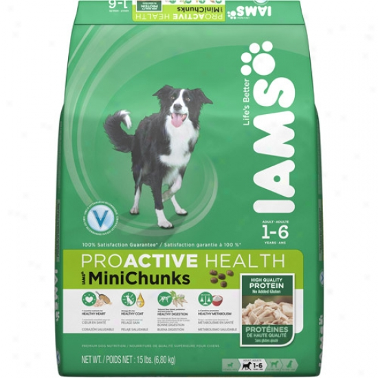 Iams Proactive Health Minichunks Dog Food, 15 Lb