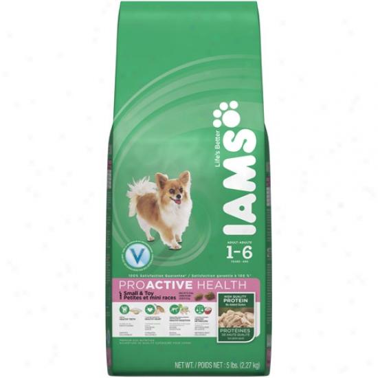 Iams Proactive Health Small & Toy Breed Dog Food, 5 Lb