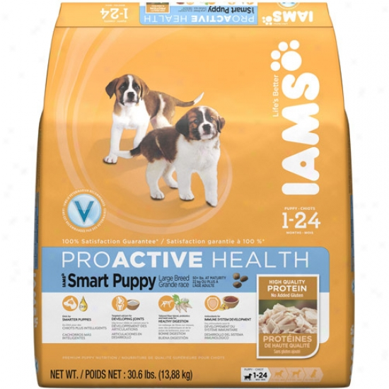 Iams Proactibe Health Smart Puppy Large Breed Dog Food, 30.6 Lbs