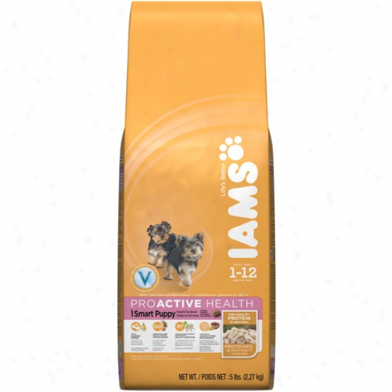Iams Proactive Health Smart Puppy Small & Toy Breed Dog Food, 5 Lb