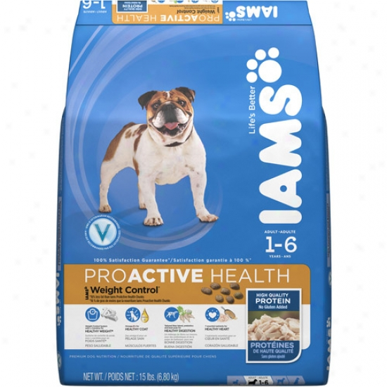 Iams Proactive Health Importance Control Dog Food, 15 Lb