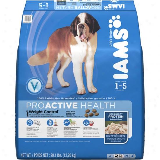 Iams Prooactive Health Weight Control Large Breed Dog Food, 29.1 Lb