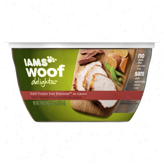 Iams Woof Delights Happy Turkey Day Dinner Wet Dog Food, 8 Oz