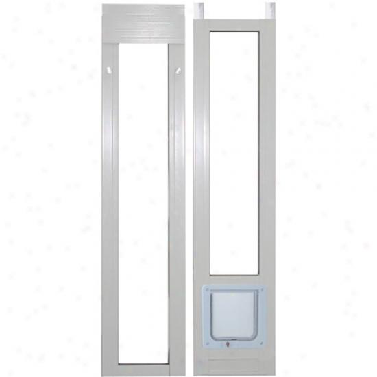 Ideal Modular Aluminum Patio Favorite Door Cat Flap, White