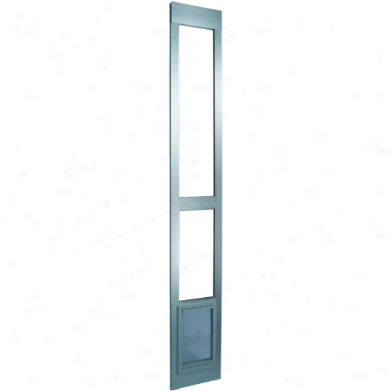 Ideal Modular Aluminum Patio Pet Door Grind Finish, Extea Large Because Pets To 90 Lbs.