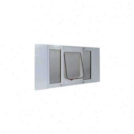 Imaginary standard Pet Products Cfsash 23 Sash Window Cat Flap Width Adjusts From 23 Inch To 28 Inch