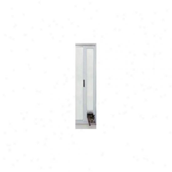 Ideal Pet Products Patcfw Cat Flap Patio Door - White Finish 77 5/8-80 3/8