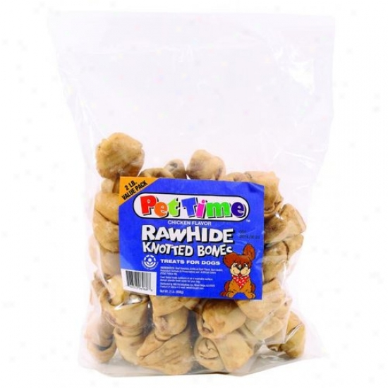 Ims Trading 06966 Pet Time Rawhide Knotted Bones