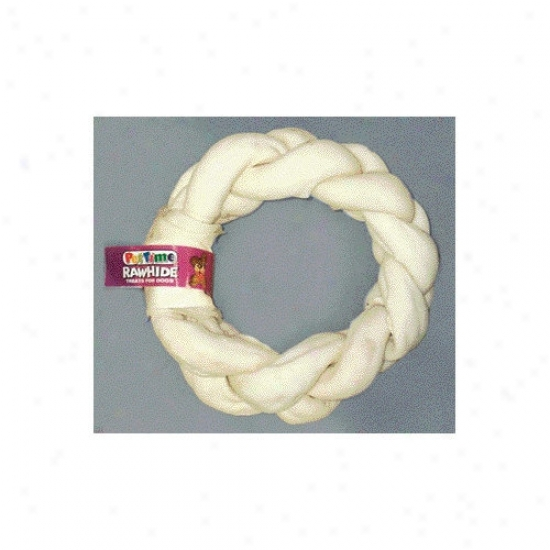 Ims Trading Braided Donut Chew Dog Treat