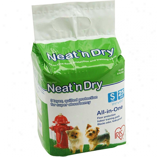 Iris Neat And Dry All-in-one Training Pads Small Size, 25 Pack