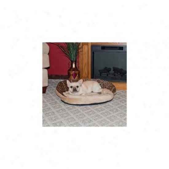 K&h 1855 Plush Bolster Sleeper Leopard Smalk