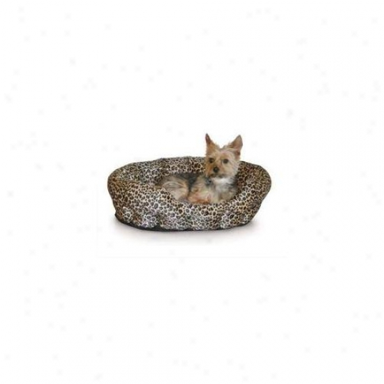 K&h Pet Productq Kh3611 Self Warming Nuzzle Nest Brown Leopard 19 Inch X 19 Inch X 6 Inch