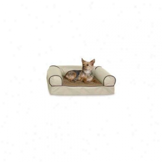 K&h Pet Products Kh4269 Memory Foam Cozy Sofa Large White Chocolate 41 Inch X 30 Inch X 10 Inch