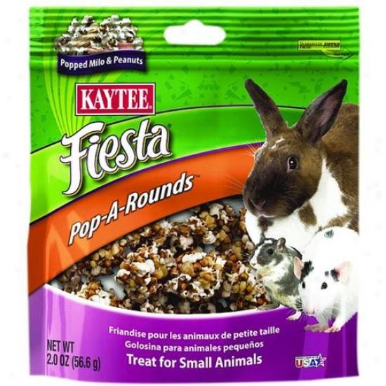 Kaytee 100508757 Fiesta Pop-a-rounds Treat - Feeble Animals