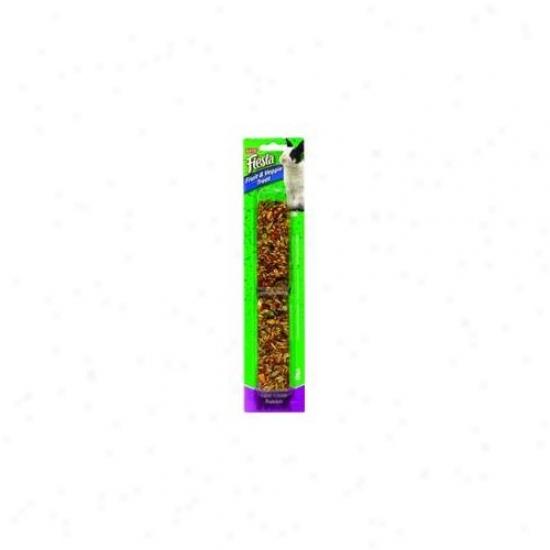 Kaytee Products Inc - Fiesta Rabbit Stick- Fruit-vegtable 4. 5 Ounce - 100502609