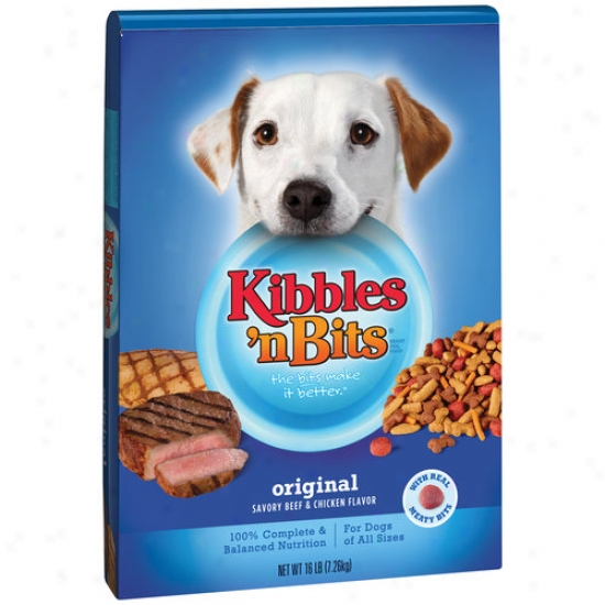 Kibbles 'n Bits Origjnal Savory Beef & Chicken Flavor Dog Aliment, 35 Lbs