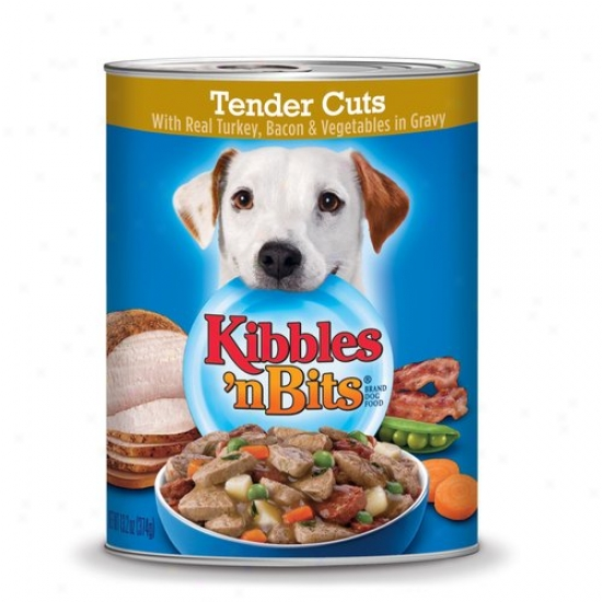 Kibbles 'n Bits Effeminate Cuts Turkey/bacon/vegetables In Gravy, 13.2 Oz