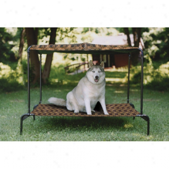 Kittywalk Systems Ultra Breezy Bed  Outdoor Dog Bed In Royale Print